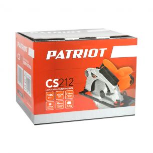 Пила дисковая PATRIOT CS 212